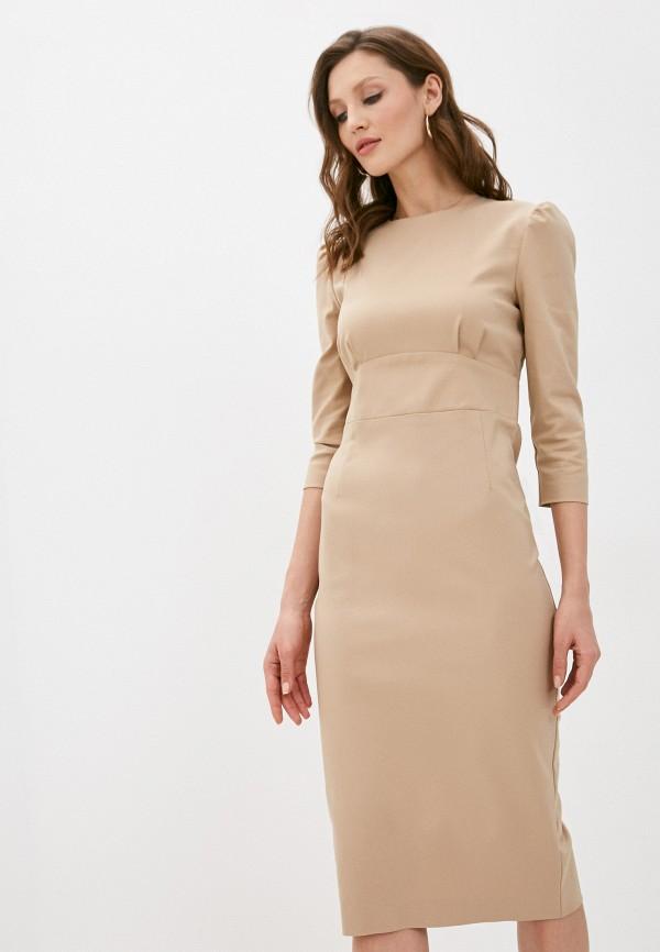 женское платье-футляр trendyangel, бежевое