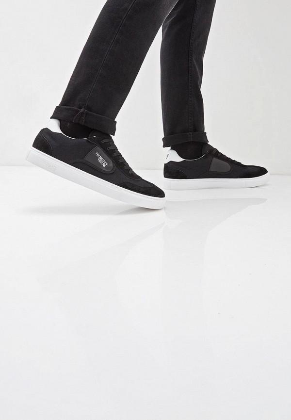 Фото 6 - мужские кеды Trussardi Jeans черного цвета