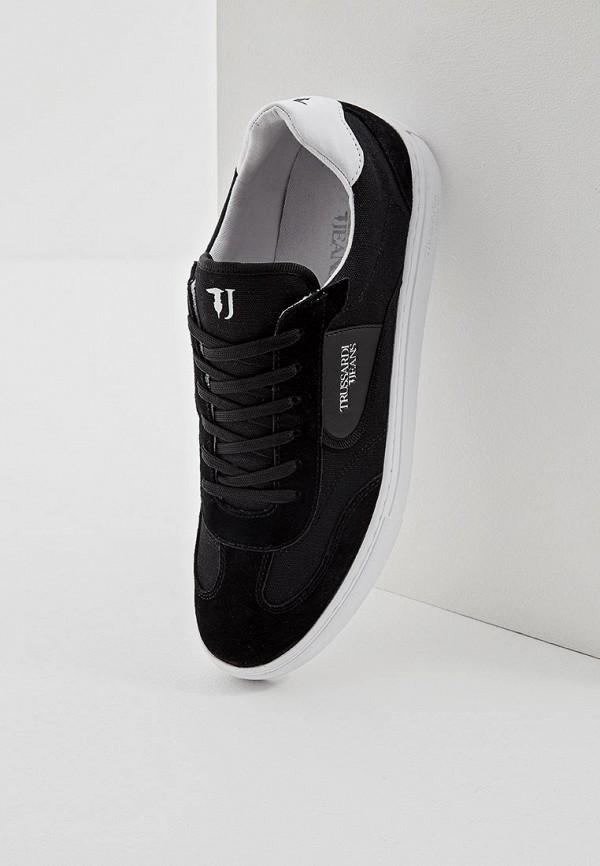 Фото 5 - мужские кеды Trussardi Jeans черного цвета