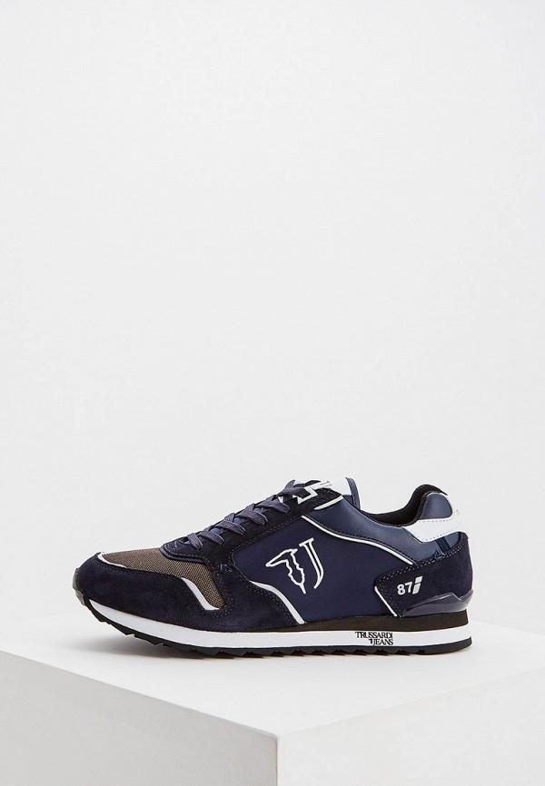 Фото - Мужские кроссовки Trussardi Jeans синего цвета
