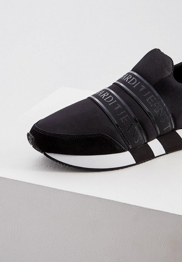 Фото 4 - мужские кроссовки Trussardi Jeans черного цвета