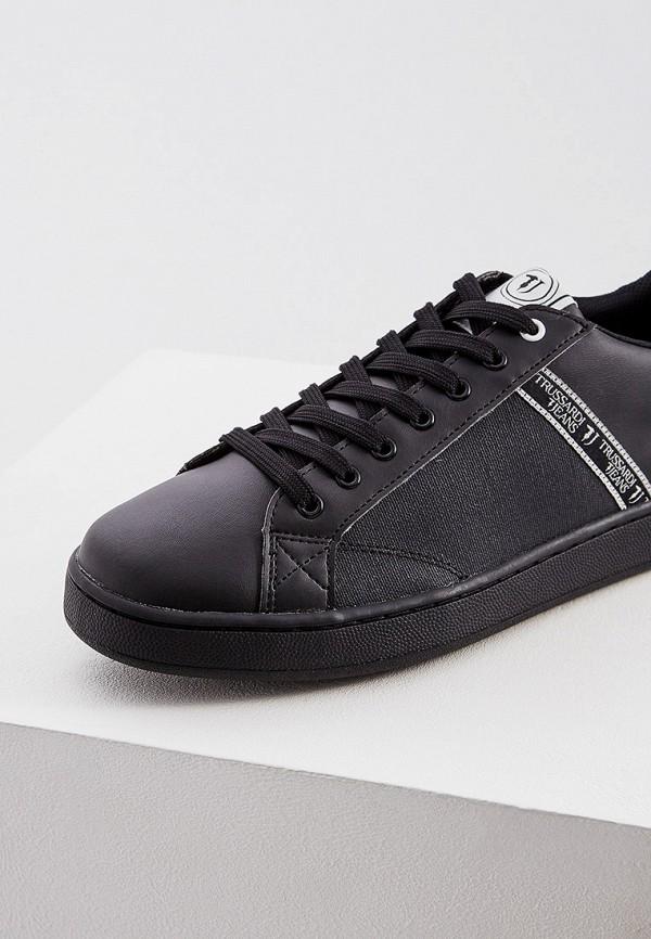 Фото 4 - мужские кеды Trussardi Jeans черного цвета