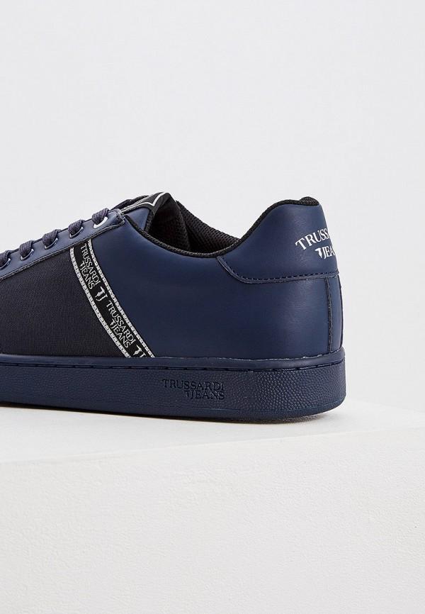Фото 2 - мужские кеды Trussardi Jeans синего цвета