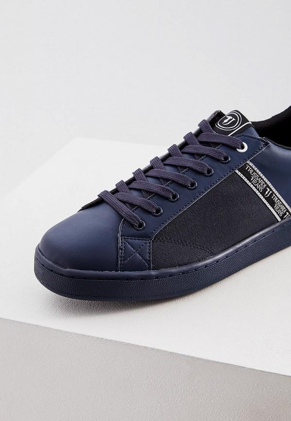 Фото 4 - мужские кеды Trussardi Jeans синего цвета
