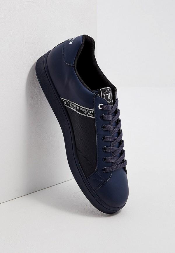 Фото 5 - мужские кеды Trussardi Jeans синего цвета