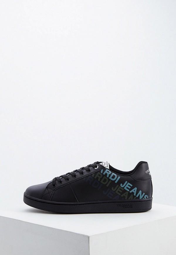 Купить Мужские кеды Trussardi Jeans черного цвета