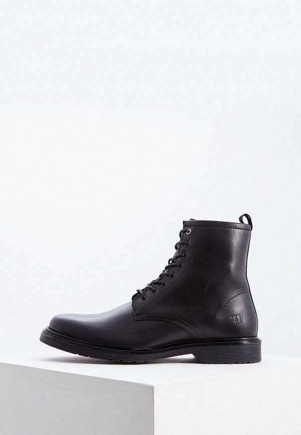 Фото - Мужские ботинки и полуботинки Trussardi Jeans черного цвета
