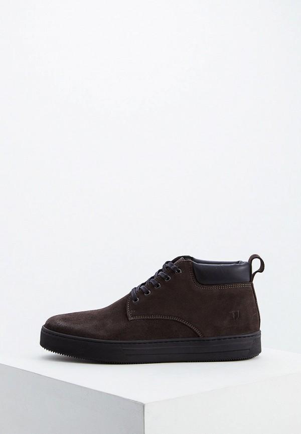 Купить Мужские ботинки и полуботинки Trussardi Jeans коричневого цвета