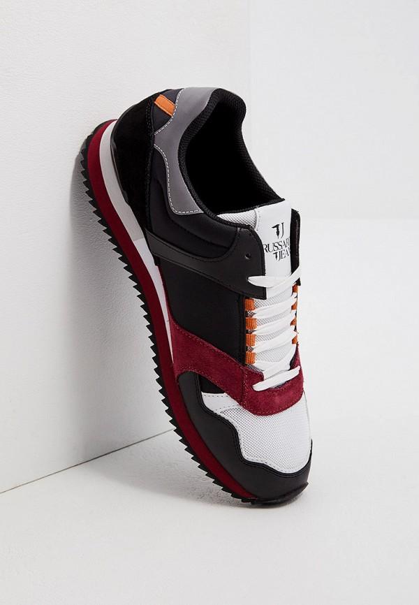 Фото 5 - мужские кроссовки Trussardi Jeans черного цвета