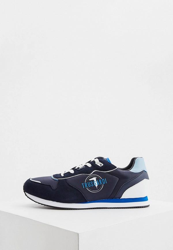 мужские низкие кроссовки trussardi, синие