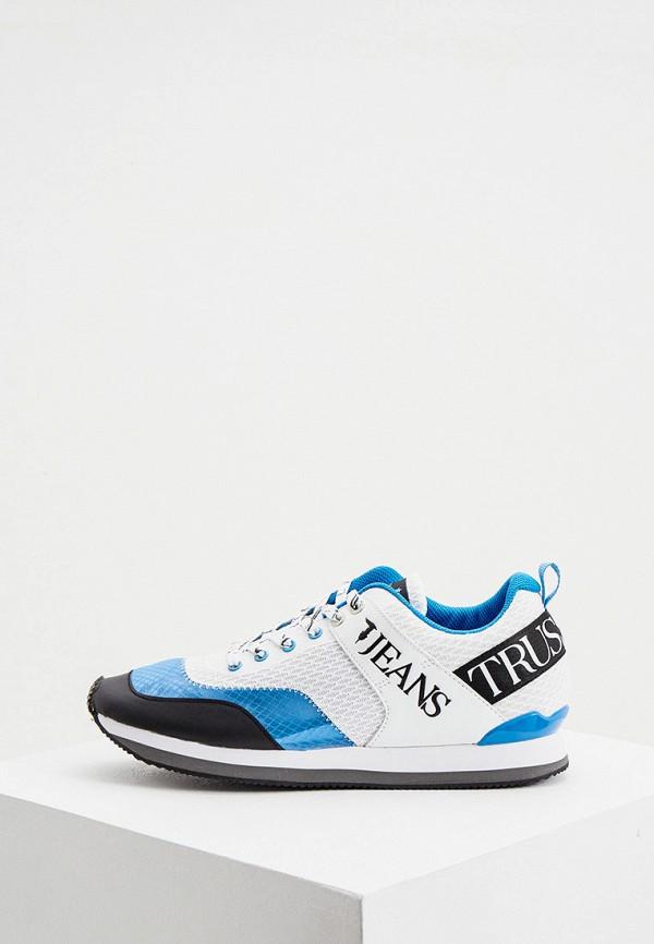мужские низкие кроссовки trussardi, голубые
