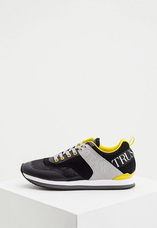 мужские низкие кроссовки trussardi, черные