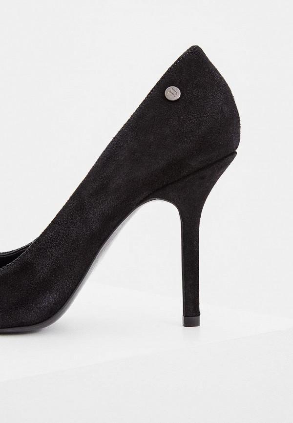 Фото 3 - женские туфли Trussardi Jeans черного цвета