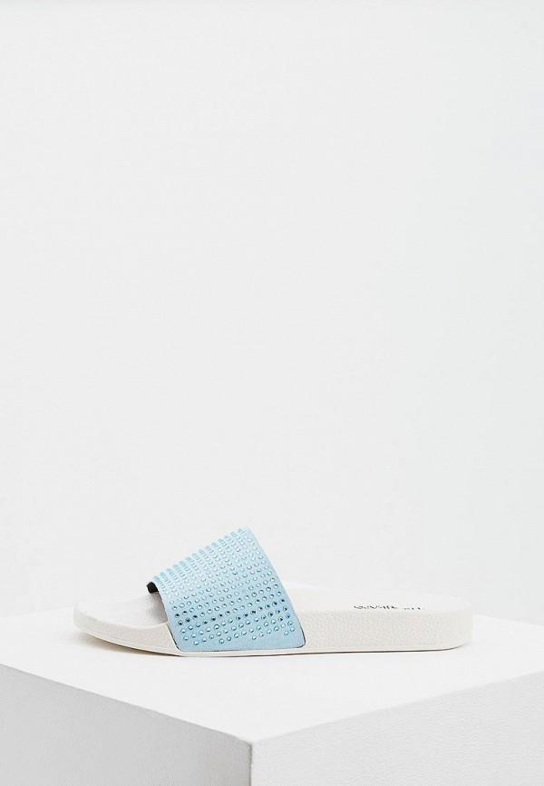 Фото - Сланцы Trussardi Jeans голубого цвета
