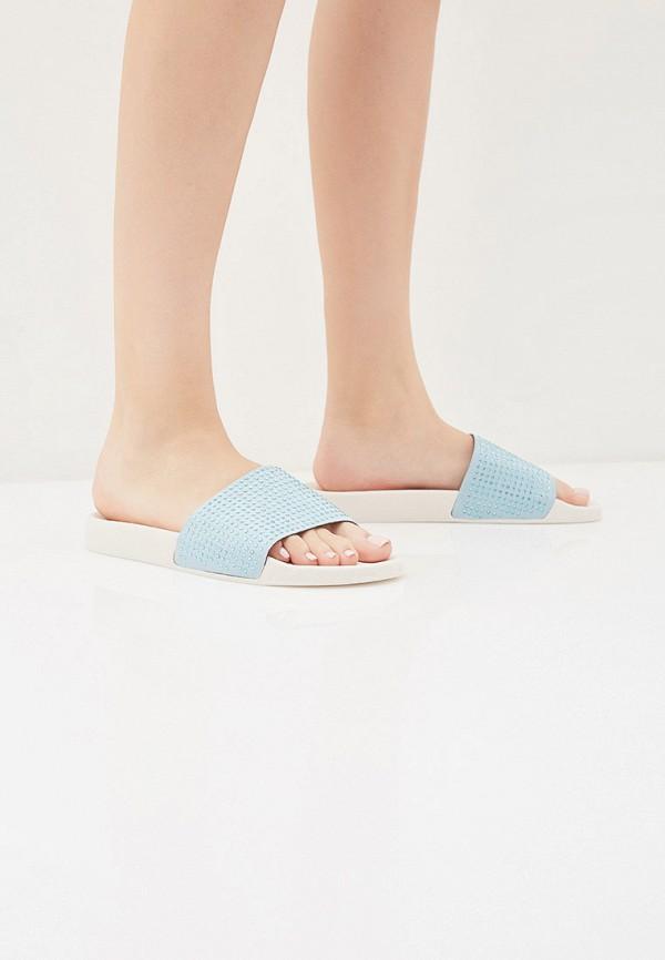 Фото 6 - Сланцы Trussardi Jeans голубого цвета