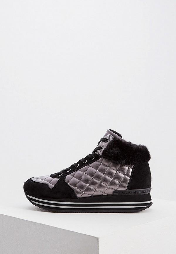 Купить Женские кроссовки Trussardi Jeans черного цвета