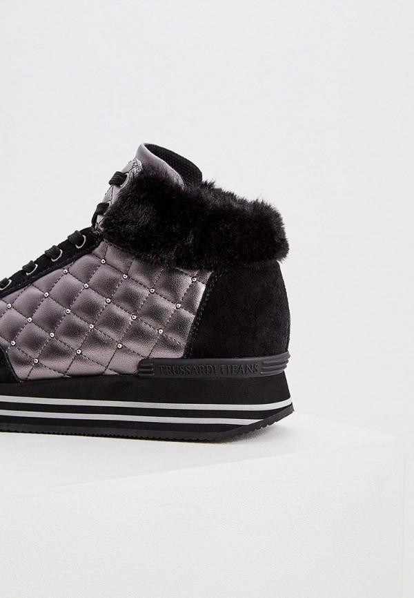 Фото 2 - женские кроссовки Trussardi Jeans черного цвета