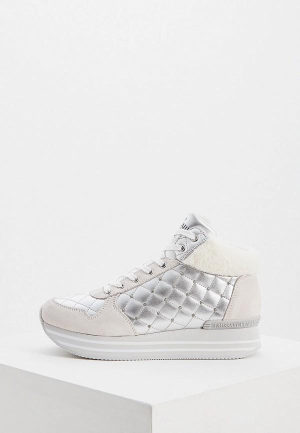 Фото - Женские ботинки и полуботинки Trussardi Jeans серебрянного цвета
