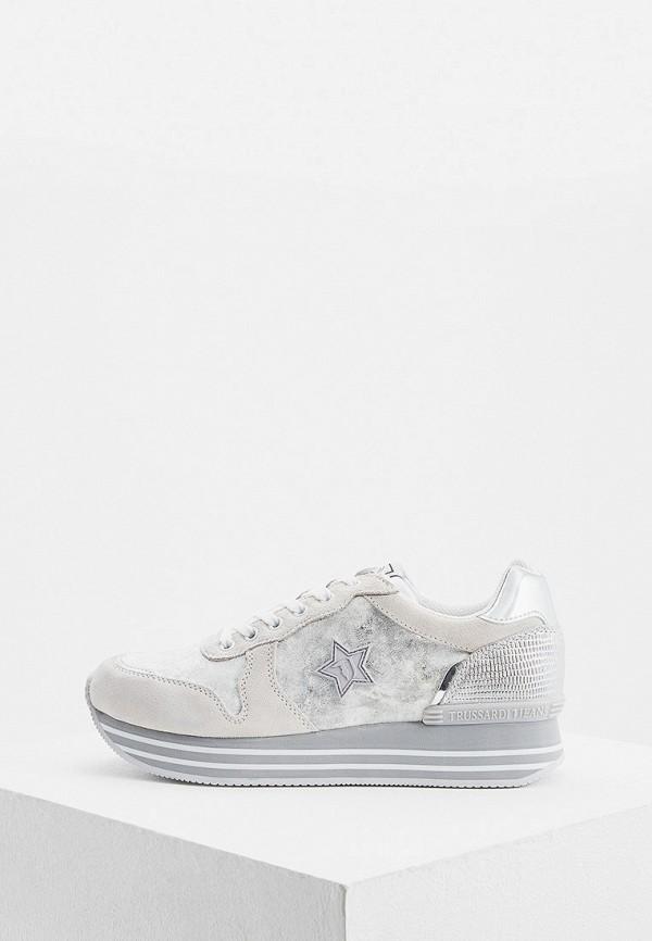 Фото - женские кроссовки Trussardi Jeans белого цвета