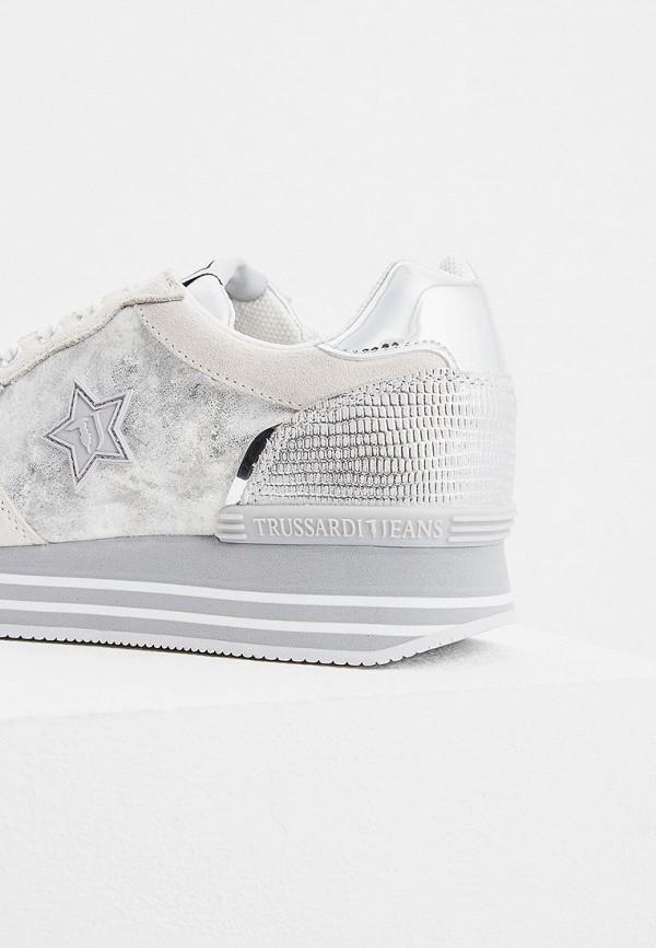Фото 2 - женские кроссовки Trussardi Jeans белого цвета