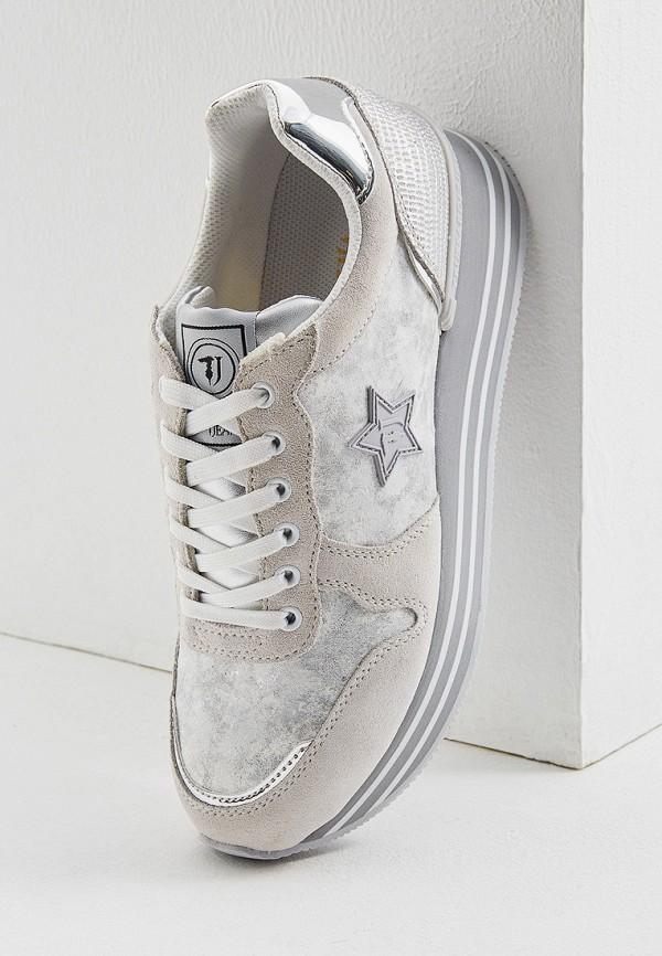 Фото 5 - женские кроссовки Trussardi Jeans белого цвета