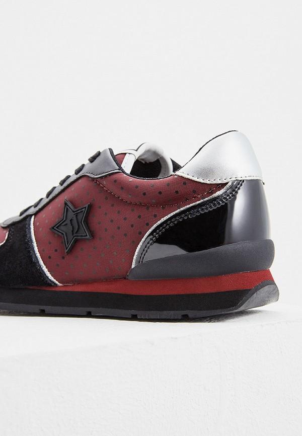 Фото 2 - женские кроссовки Trussardi Jeans бордового цвета