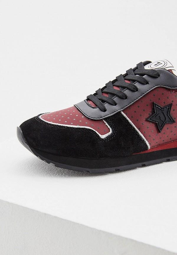 Фото 4 - женские кроссовки Trussardi Jeans бордового цвета