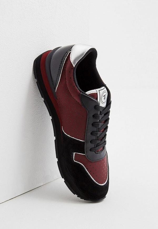 Фото 5 - женские кроссовки Trussardi Jeans бордового цвета