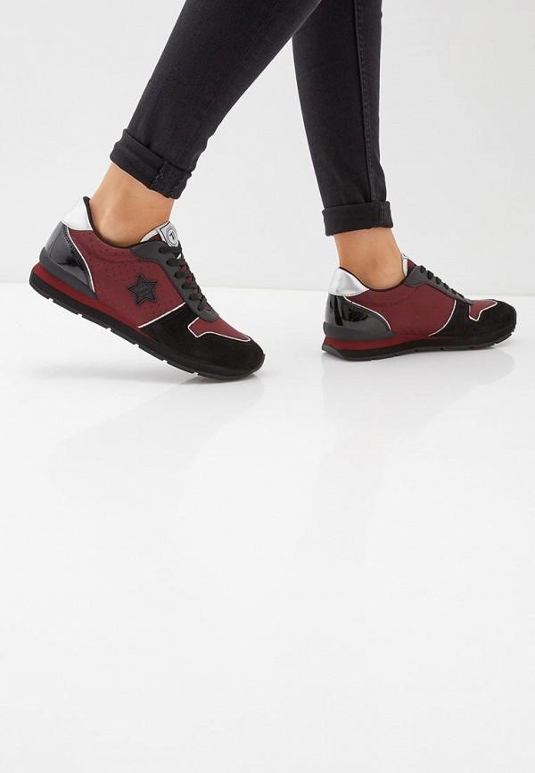 Фото 6 - женские кроссовки Trussardi Jeans бордового цвета