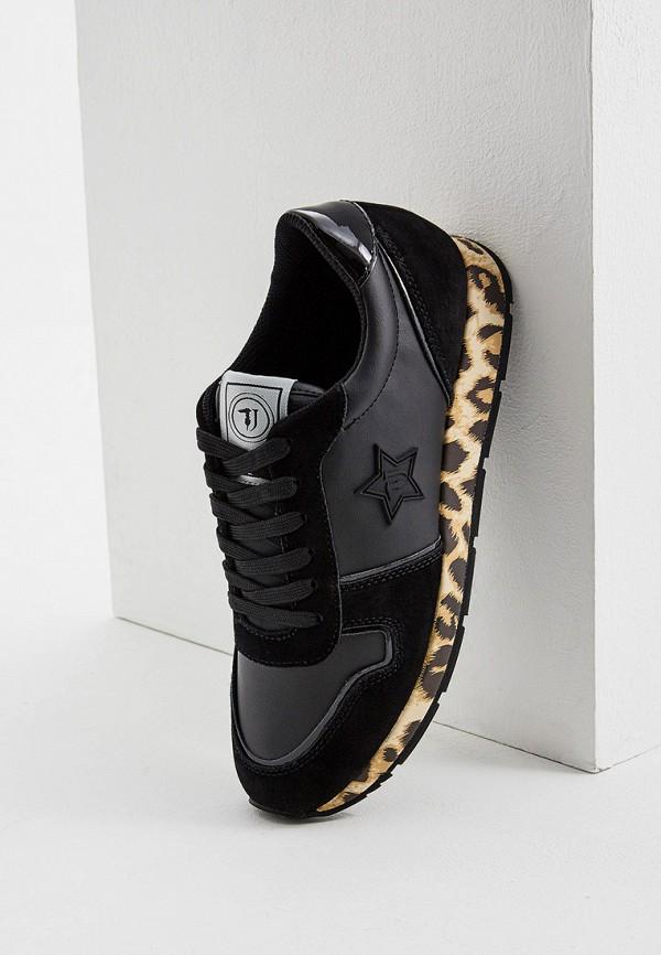 Фото 5 - женские кроссовки Trussardi Jeans черного цвета