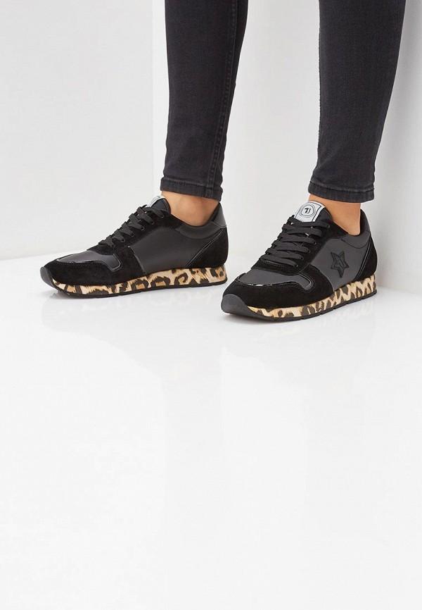 Фото 6 - женские кроссовки Trussardi Jeans черного цвета