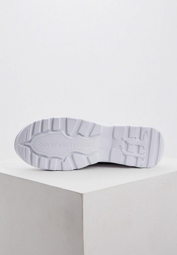 Фото 3 - женские кроссовки Trussardi Jeans белого цвета