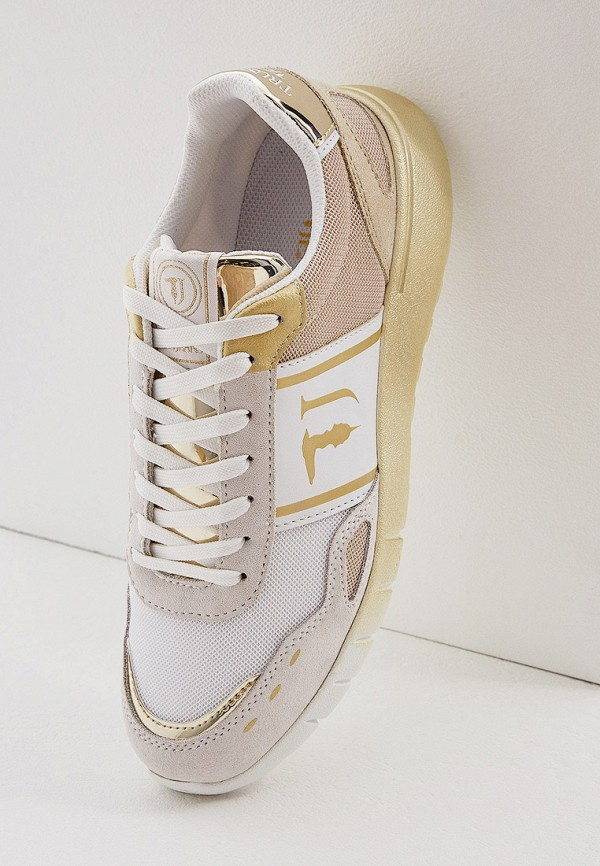 Фото 5 - женские кроссовки Trussardi Jeans бежевого цвета