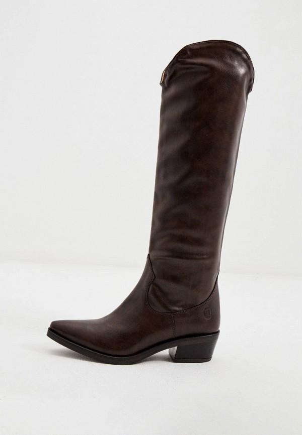 женские сапоги trussardi, коричневые