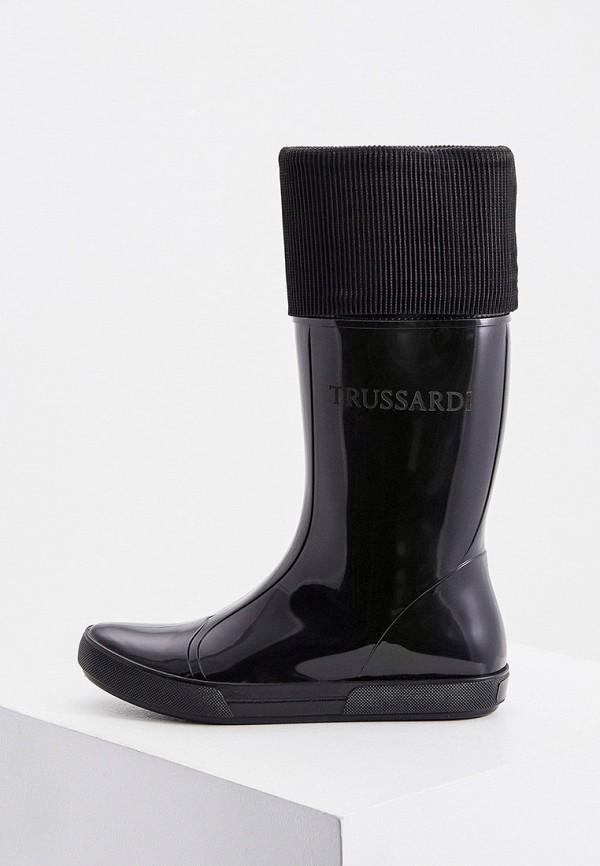 женские резиновые сапоги trussardi, черные