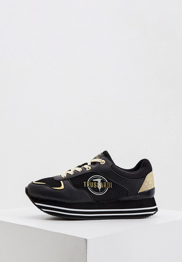 женские кроссовки trussardi, черные