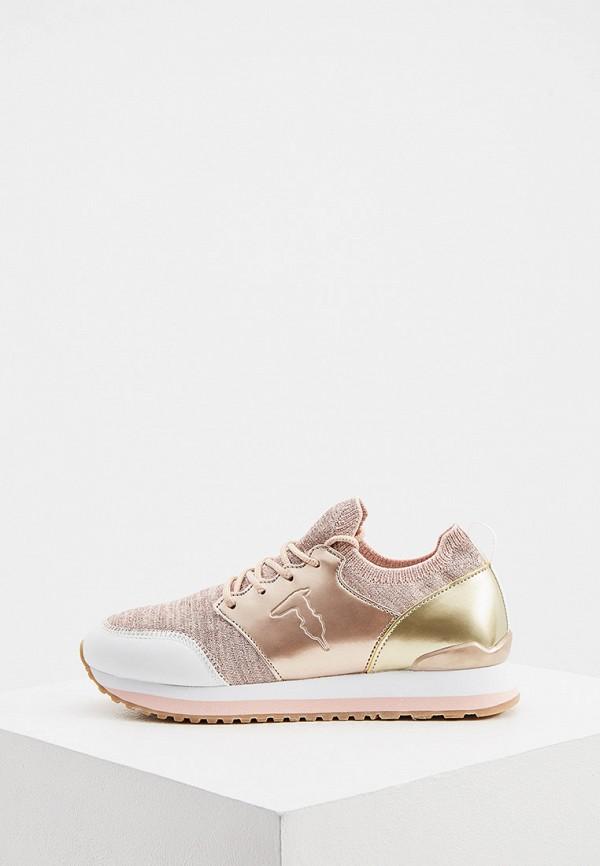 женские кроссовки trussardi, розовые