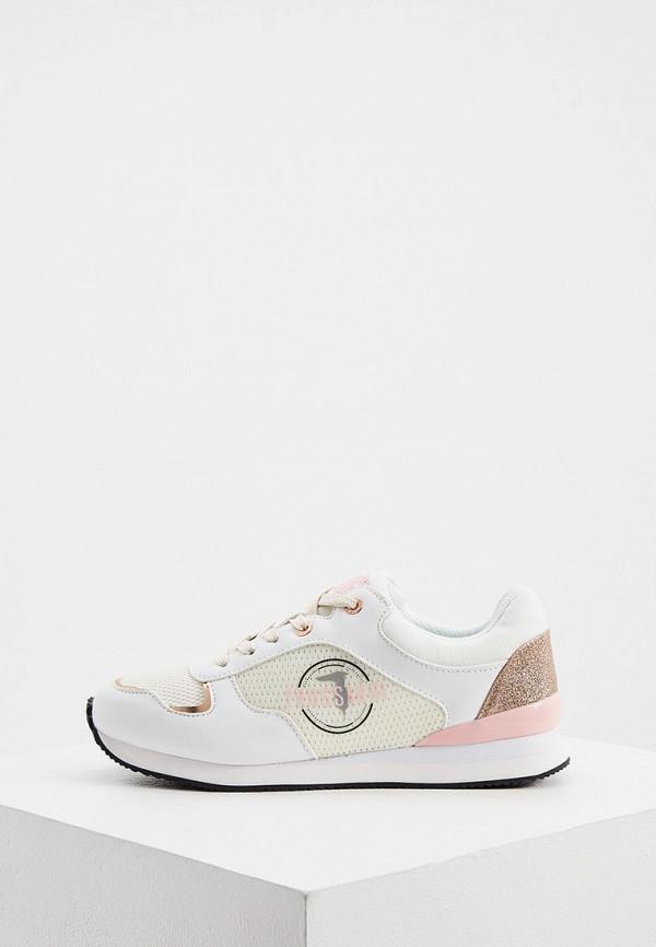 женские кроссовки trussardi, белые