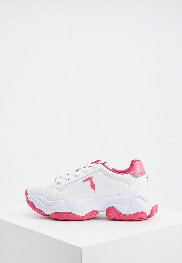 женские низкие кроссовки trussardi, белые