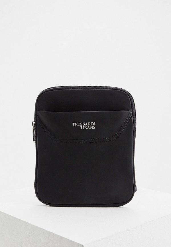Фото - мужскую сумку Trussardi Jeans черного цвета