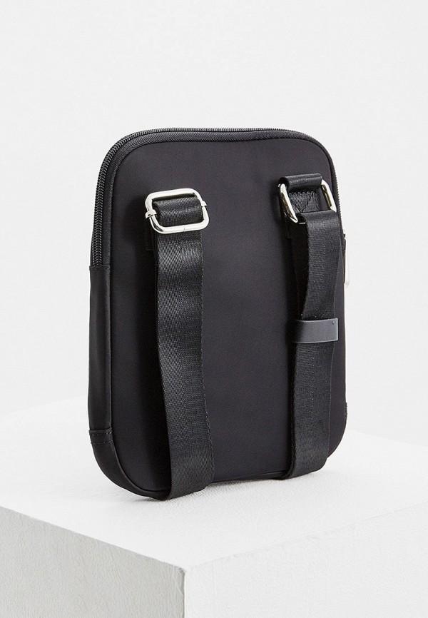 Фото 2 - мужскую сумку Trussardi Jeans черного цвета