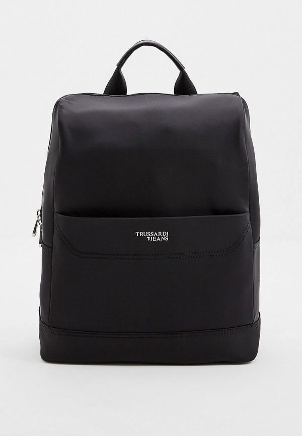 Фото - мужской рюкзак Trussardi Jeans черного цвета