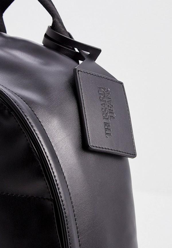 Фото 4 - мужской рюкзак Trussardi Jeans черного цвета
