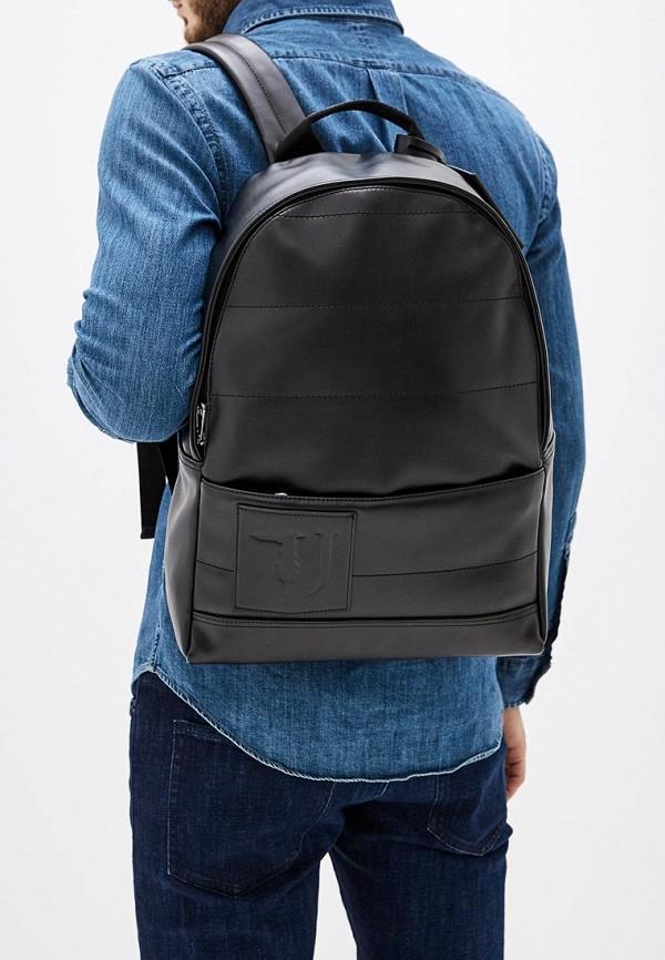 Фото 6 - мужской рюкзак Trussardi Jeans черного цвета