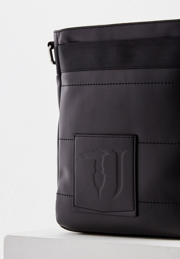 Фото 3 - мужскую сумку Trussardi Jeans черного цвета