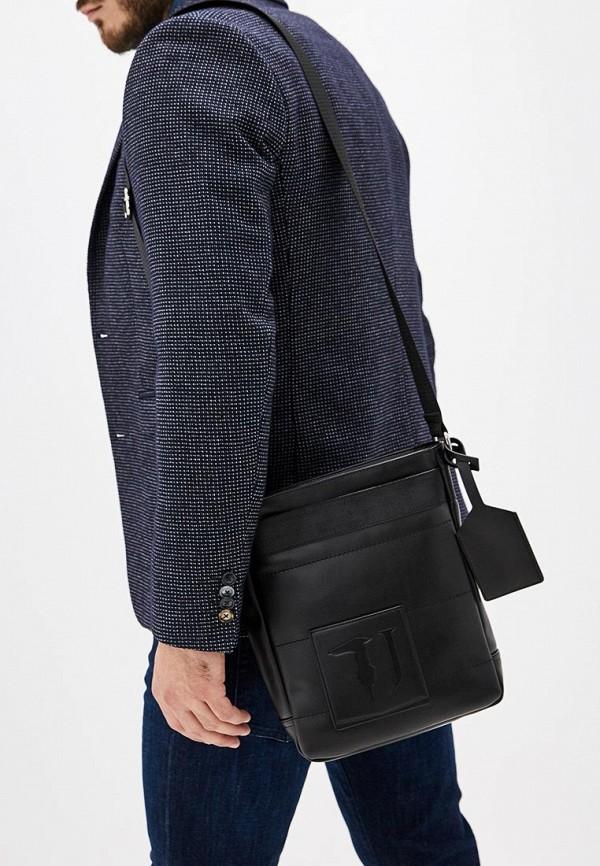 Фото 5 - мужскую сумку Trussardi Jeans черного цвета