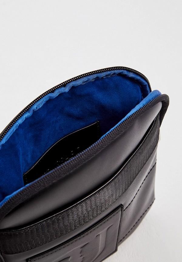 Фото 4 - мужскую сумку Trussardi Jeans черного цвета