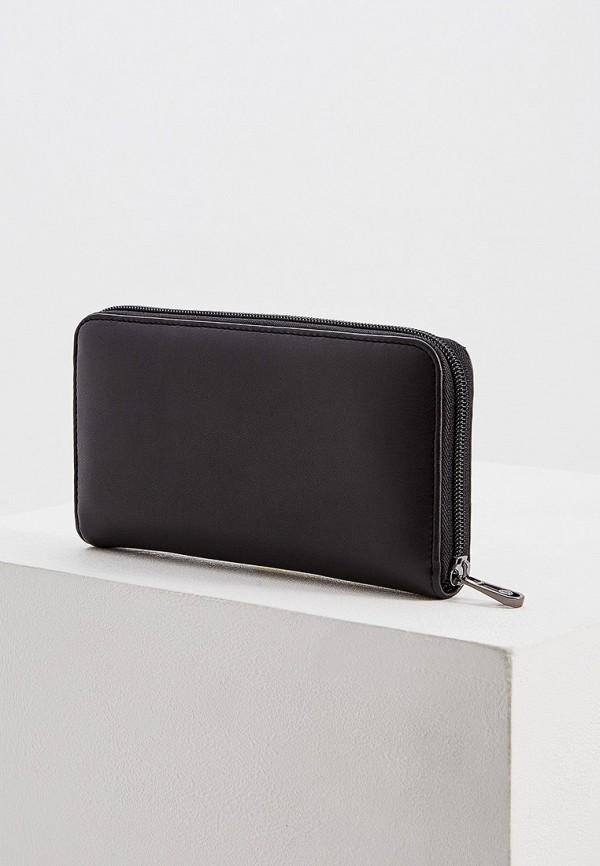 Фото 2 - мужской кошелек или портмоне Trussardi Jeans черного цвета