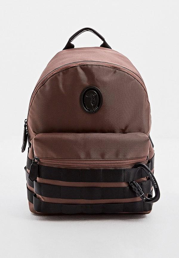 мужской рюкзак trussardi, коричневый