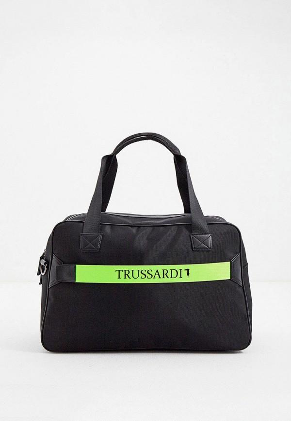 мужская сумка trussardi, черная